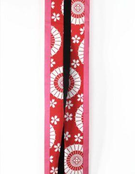 selezione premium c6424 4ad2f Cintura obi artigianale rossa e oro con fiori di ciliegio - Kimono ...
